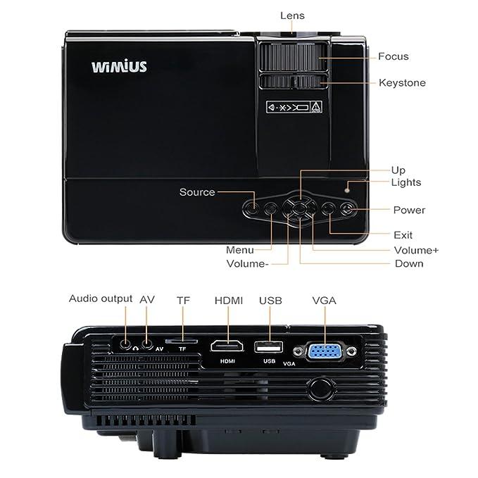 WiMiUS T3 Mini Vídeo Proyectores Portatil HD Proyector LCD 1080P ...