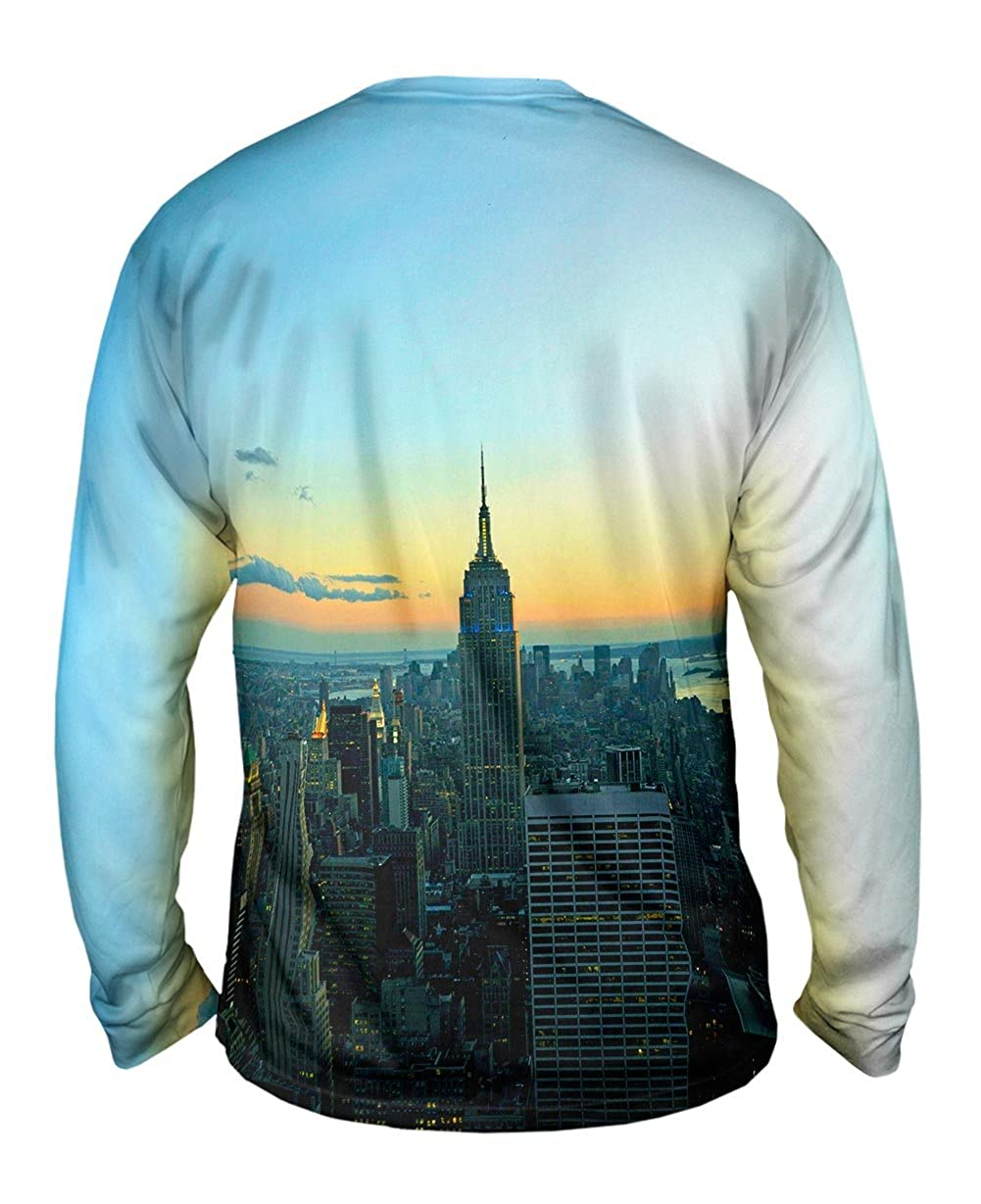 TShirt Yizzam Empire State New York Sunset Mens Long Sleeve