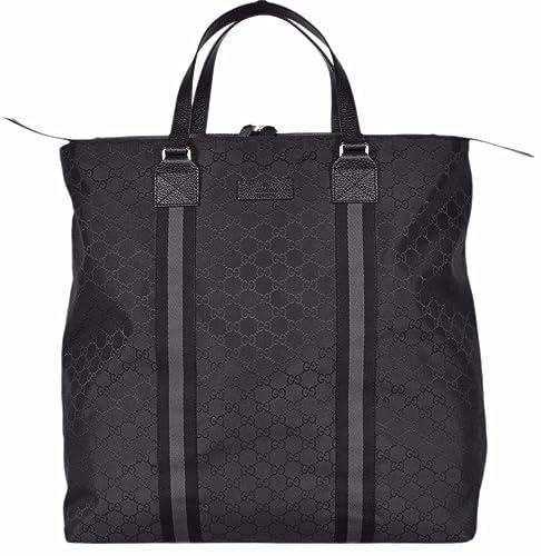 d67a891739d5 Gucci Nylon GG Guccissima Web Trim XL Zip Close Tote Bag (Black/449179):  Amazon.ca: Shoes & Handbags