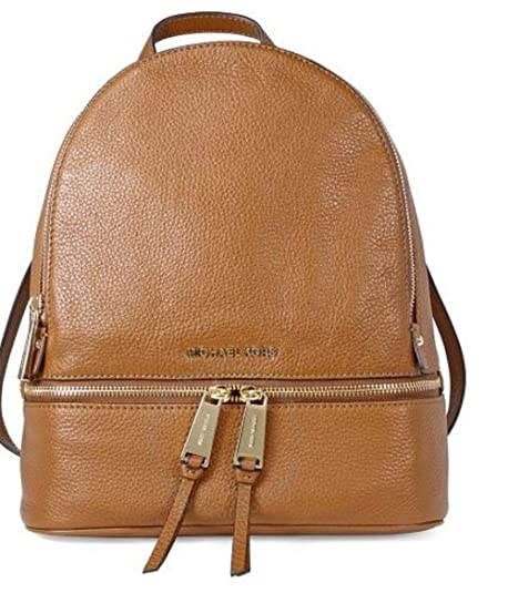 Michael Kors Rhea Zip, Mochila para Mujer, Marrón (Luggage), 12.7x31