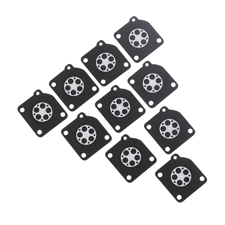 Hicello 10pcs Vergaser Kit Dichtung Membrane Rebuilt Kit f/ür Ersetzt ZAMA C1U A015010
