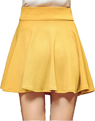 Faldas para Mujer Verano Elástica Plisada Básica Patinador Color ...