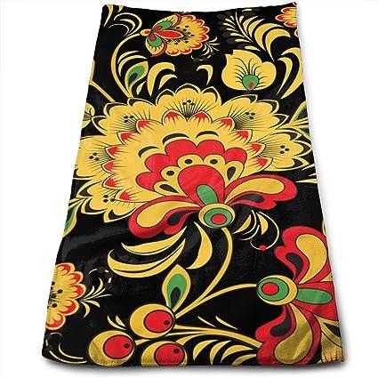 QiFfan22 Khokhloma - Toallas de cocina coloridas - Paño de cocina - Lavable a máquina,