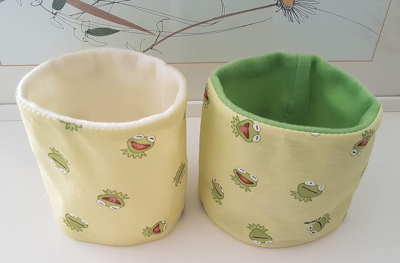 Hundeloop Loop Schal Hund Frosch gr/ün Sesamstra/ße 28//31 Handarbeit Handmade