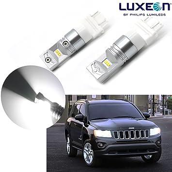 2 x 100 W brillante blanco 3157 4157 na 4114 Philips LED bombillas luces de conducción diurna: Amazon.es: Coche y moto