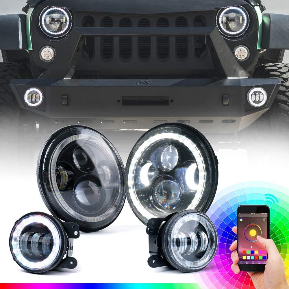 Xprite 7 Best Halo Lights For Jeep Wrangler