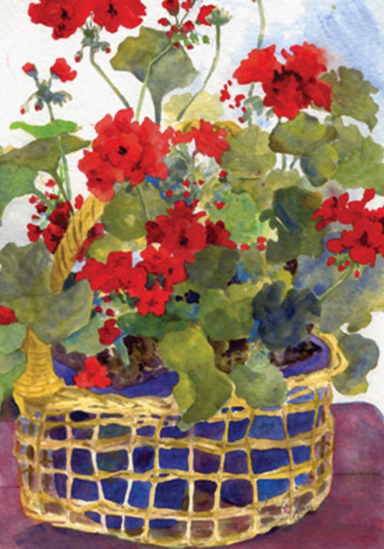 Toland Home Garden 109136 Geranium Basket 28 x 40 Inch Decorative, House Flag (28
