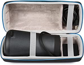 LuckyNV Estuche de Viaje para Bose Soundlink Revolve + Plus EVA Carry Estuche de protección Estuche Protector para Espacio Extra para enchufar y Cables