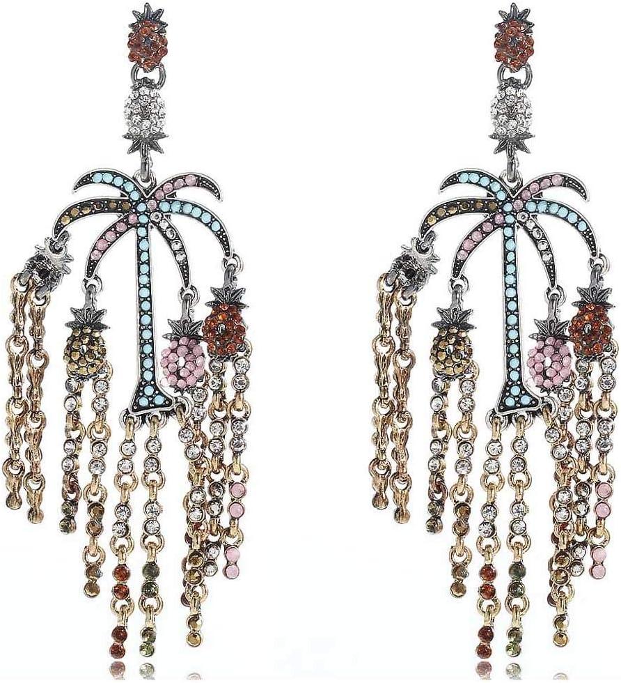 Erin Pendientes Colgantes De Diamantes De Imitación Blancos De Cristal Multicolor Pendientes De Mujer Vintage Pendientes De Plata/Oro De Piedras Preciosas Femeninas E1126