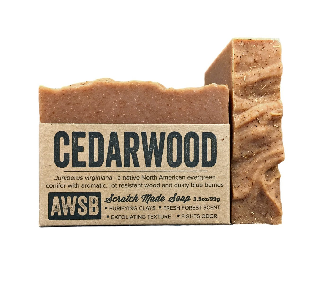 A Wild Soap Bar, Cedarwood, 3.5 Ounce