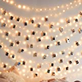 50 LEDs 50 Photo Clips String Light Battery Powered Decoration For Home Living Bedroom Indoor Christmas Party Decoration for
