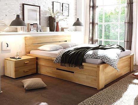 Camera Da Letto Legno Naturale : Letto in legno caspar comodino in legno di faggio naturale
