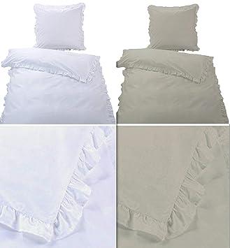 Bettenset Zubehör 4 Teilige Hochwertige Renforcé Bettwäsche Rüschen