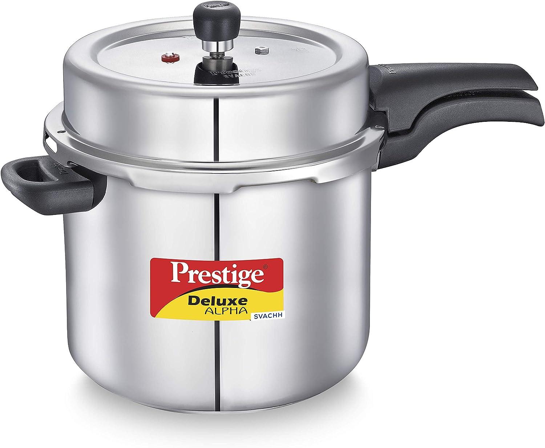 Prestige PRASV10 PRESSURE COOKER, 10 Liter, SILVER