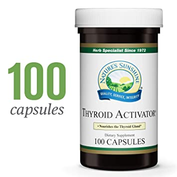 Nature's Sunshine Thyroid Activator, 100 Capsules   Nourish The Thyroid  Gland and Support Thyroid