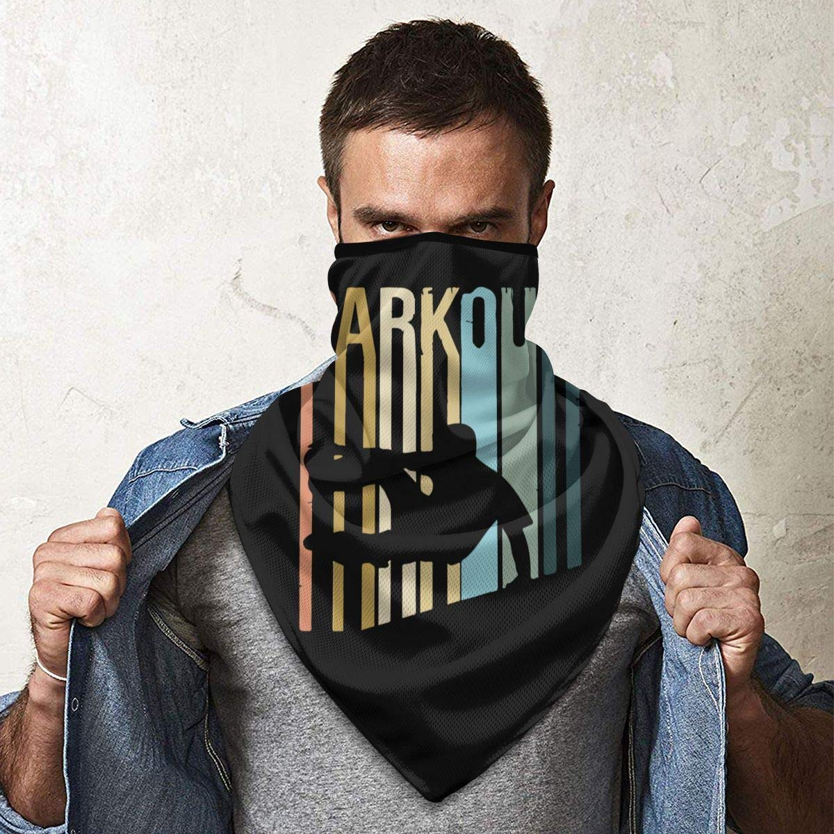 CAP PILLOW HOME Parkour Neck Gaiter Warmer Windproof Face Mask Scarf Outdoor Sports Mask