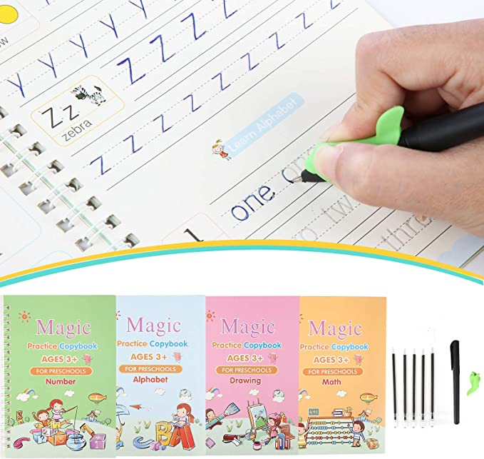 Gogdog Magic Calligraphy That Can Be Reused Handwriting Copybook Set for Kid Calligraphic Letter Writing