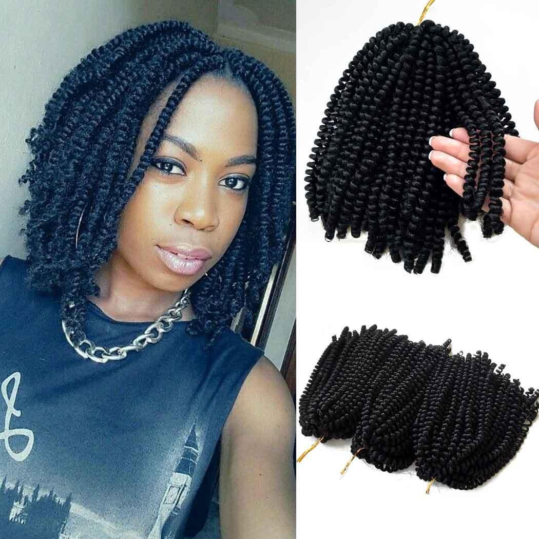 Flyteng spring twist hair for braids black 3 pack/lot Jamaican Bounce Crochet Hair Extensions Bohemian braiding hair by Flyteng (Image #1)