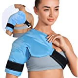 REVIX Shoulder Ice Pack for Injuries Reusable Gel Ice Wrap for Shoulder Pain Relief, Bursitis and Rotator Cuff, Cold Therapy
