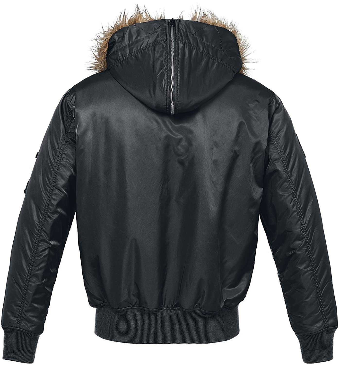Brandit MA1 Hooded Jacket Black