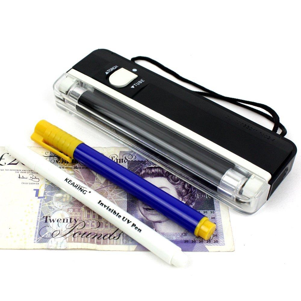 H&S® Fake Note Money Detector LED Torch Black Light Lamp Checker UV Tester  Maker Pen: Amazon.co.uk: Office Products