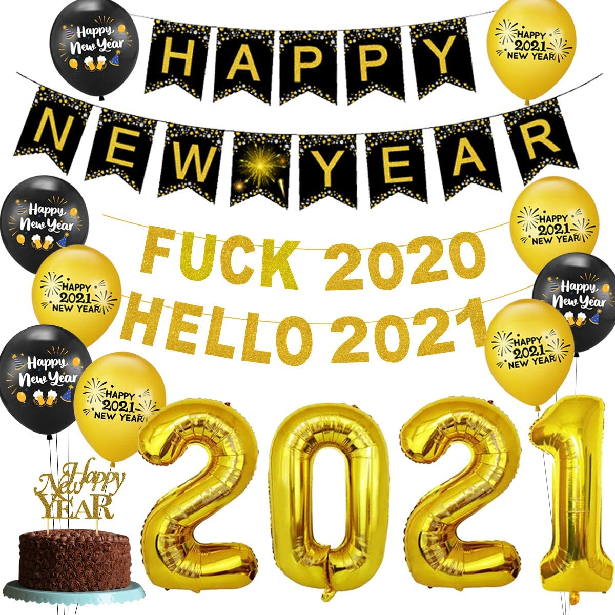 Balloons Includes Photo Props Party Supplies Banner Party City Farewell 2020 New Years Eve Decor Kit