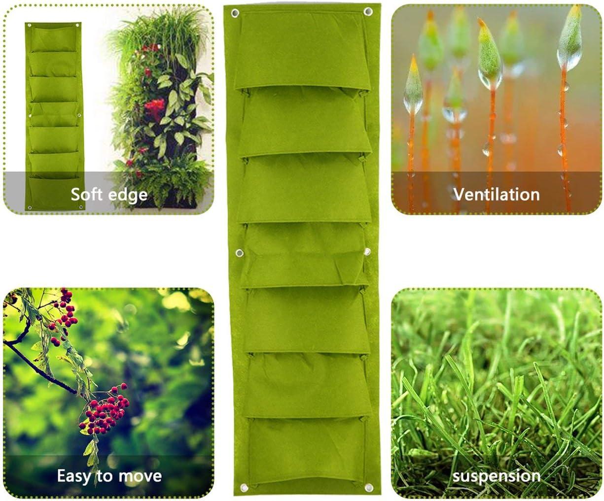 30 cm Logicstring Fioriera da Giardino Verticale Verde Borsa da Coltivazione per Fiori da piantare a Parete 7 Borsa da Giardino per Verdure tascabili Forniture per la casa 96