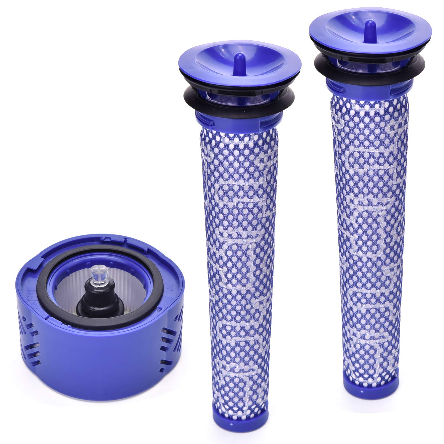 Techypro 2 Pre Filter + 1 HEPA Post-Filter Kit for Dyson V6 Cordless Stick Vacuum, Dyson Filter Replacements Pre-Filter (965661-01) and Post- Filter (966741-01)
