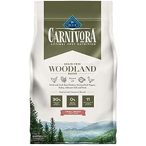 Blue Buffalo Blue Carnivora Woodland Blend Optimal Prey Nutrition Grain Free Adult Small Breed Dry Dog Food