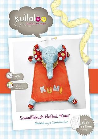 kullaloo - Schnittmuster & Nähanleitung für Schnuffeltuch Elefant ...