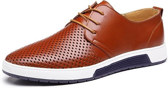 Zapatos de Cuero Hombre Oxford con Cordones