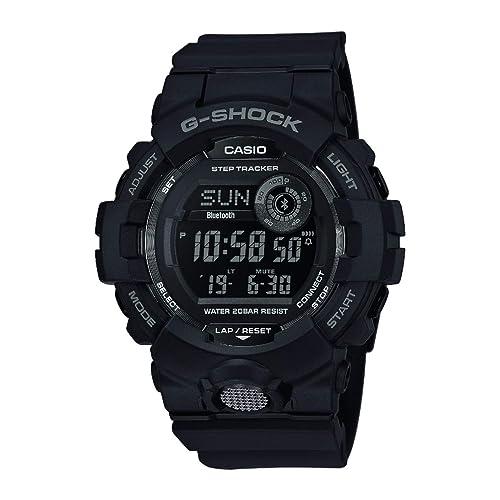 Casio G SHOCK Reloj Digital Contador de pasos Sensor de movimiento Aplicación de deporte gratuita para descargar 20 BAR Negro para Hombre GBD 800 1BER