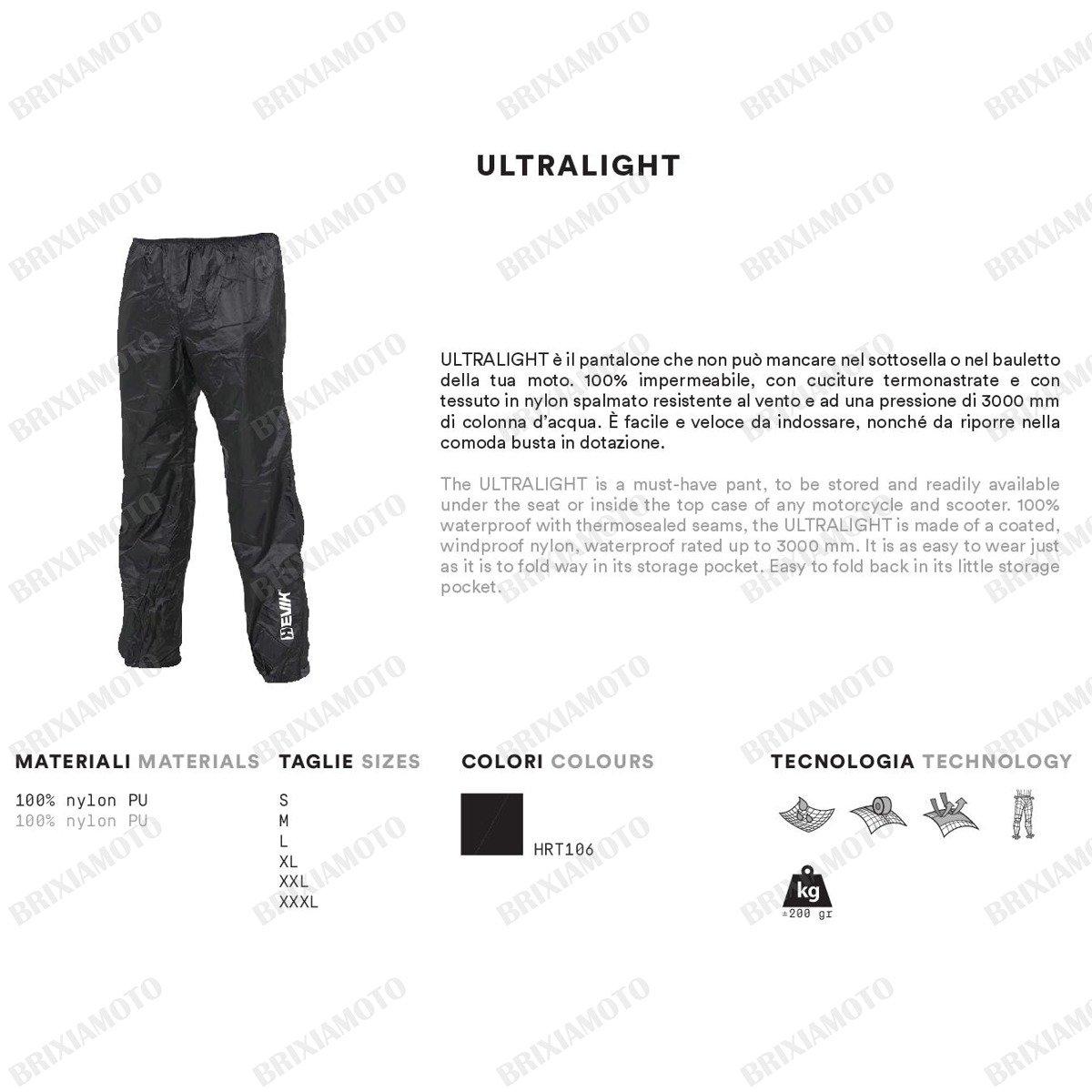HEVIK HRT106L Pantalone Antiacqua L