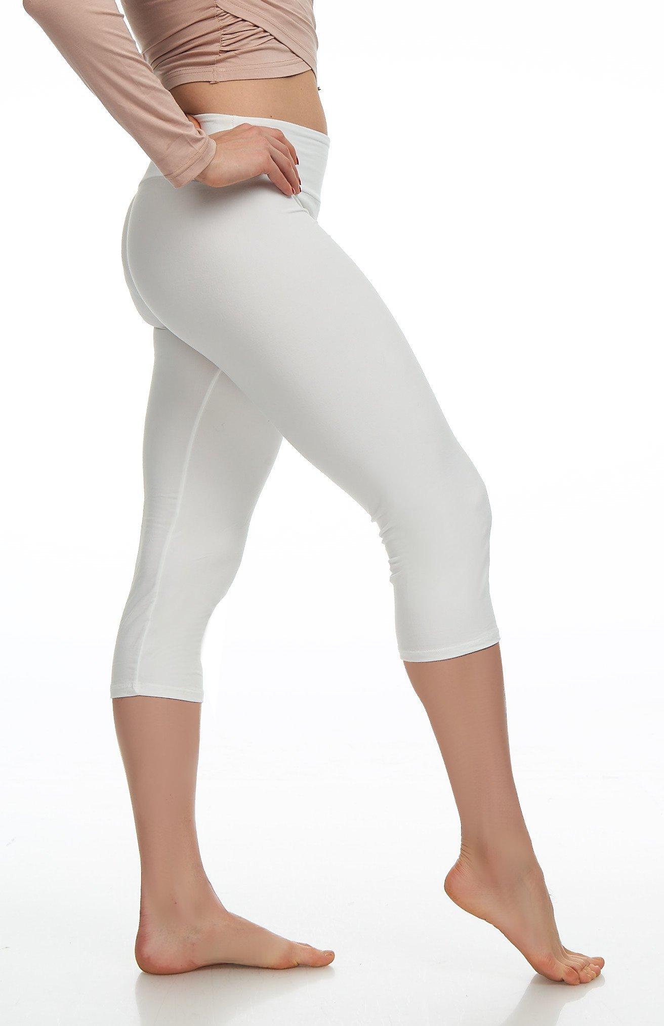 62e7da6ac85b8 LMB Womens Extra Soft Capri Leggings with High Yoga Waist 40+ Colors Plus  Size