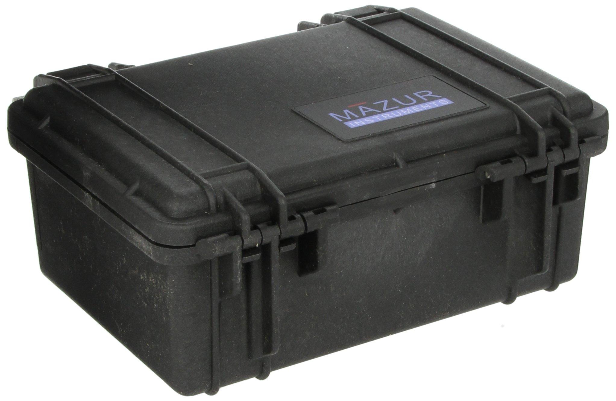 Mazur Instruments PRM-HC-BK Pelican PRM Hard Field Case, 7-1/4'' Length x 4-3/4'' Width, Black