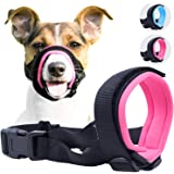Gentle Muzzle Guard for Dogs - Prevents Biting Unwanted Chewing Safely Secure Comfort Fit - Soft Neoprene Padding – No More Chafing – Included Training Guide Helps Build Bonds Pet