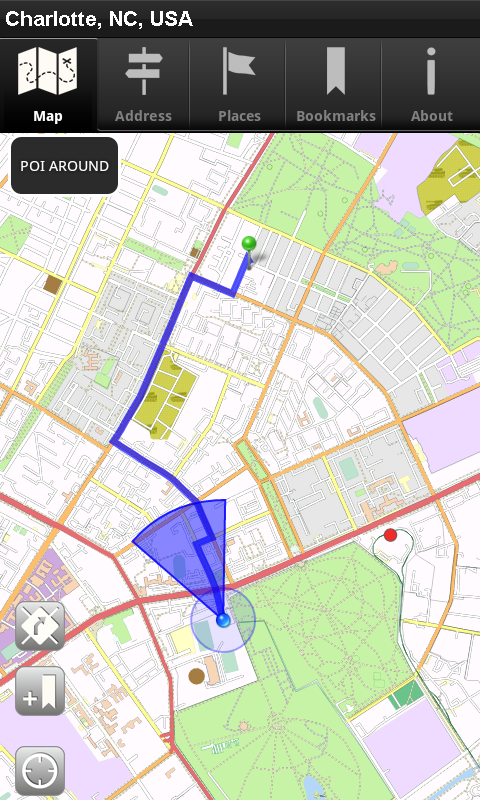 Charlotte In Usa Map.Amazon Com Offline Map Charlotte Nc Usa Cnm Appstore For Android