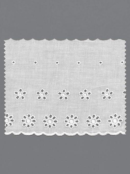 Tira de algodón bordada con círculos | Broderie Anglaise | 6,9m de ...