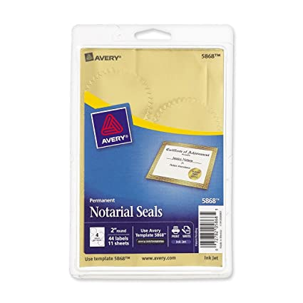 amazon com avery inkjet print or write notarial seals 2 in