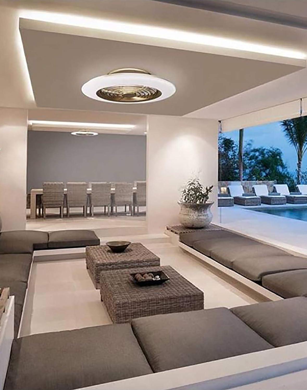 Plafón con ventilados ALISIO - Iluminación interior MANTRA - LED ...