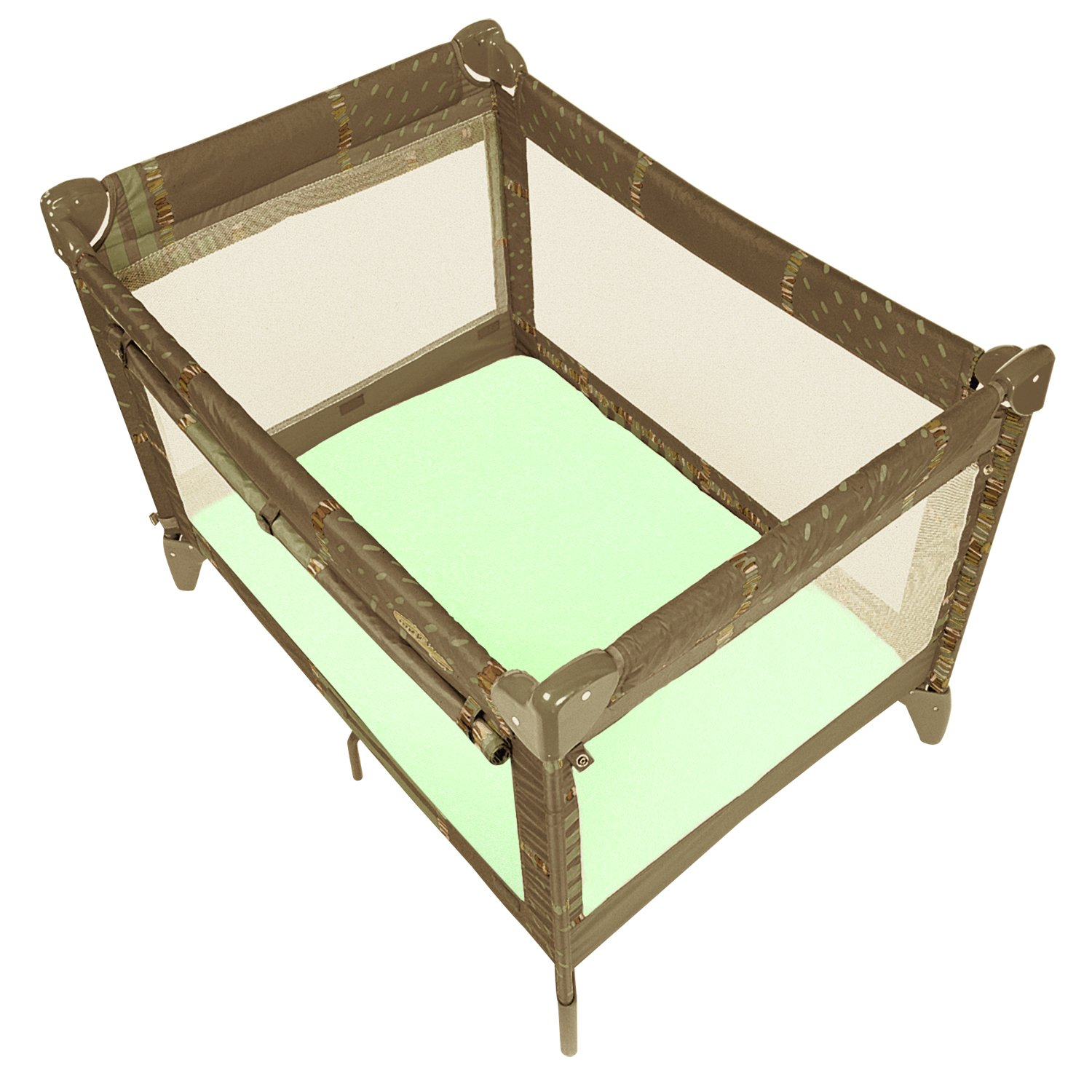 Kushies Play Pen Playard Fitted Sheet, Green by Kushies (Image #1)