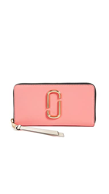 93c09f18bc019 Marc Jacobs Women's Snapshot Standard Continental Wallet, Coral Multi, One  Size