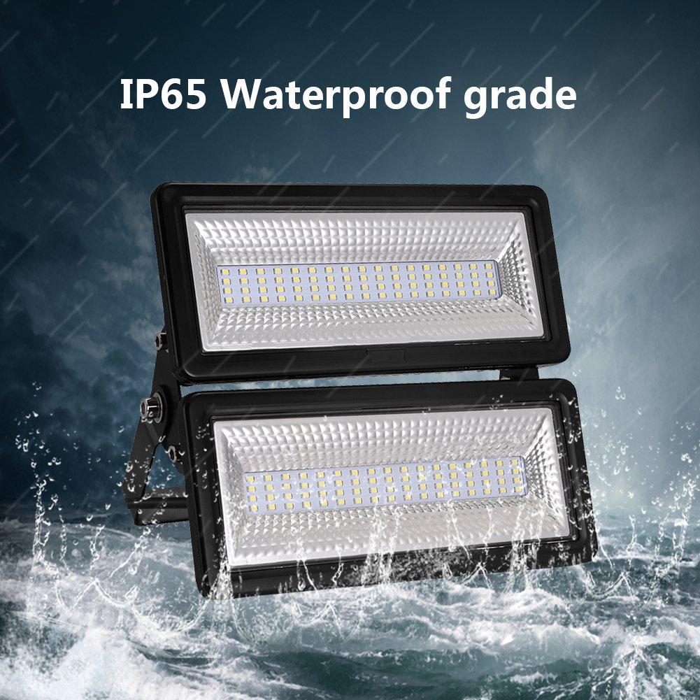 50W 100W Focos LED Exterior Puede fusionarse LED Foco Proyector, Peso ligero, Ultra Delgado, Bajo Consumo de Energía y Alto Brillo (100W, Blanco frío): ...