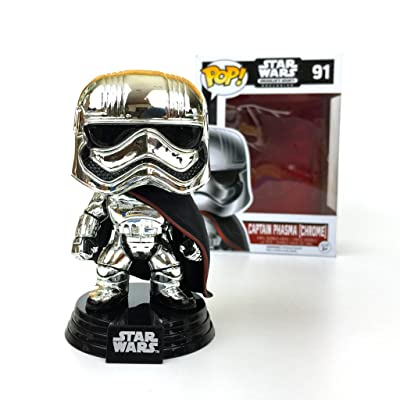 Star Wars Captain Phasma Chrome POP! Smugglers Bounty Exclusive 91: Toys & Games