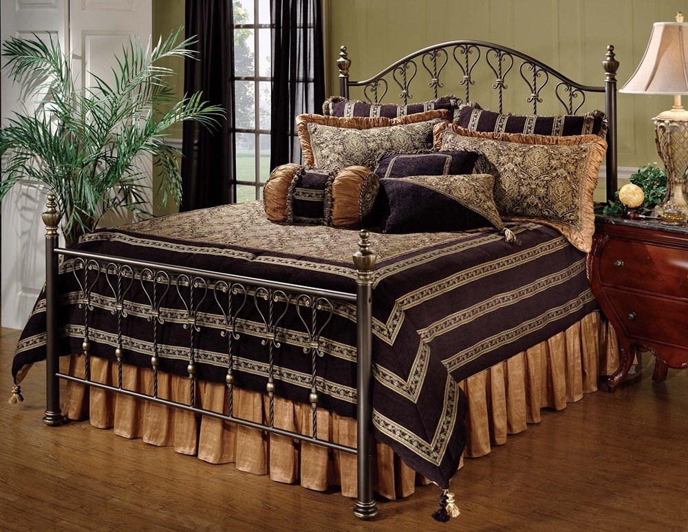 Amazon.com: Hillsdale Furniture 1332BKR Huntley Bed Set With Rails, King,  Dusty Bronze: Kitchen U0026 Dining