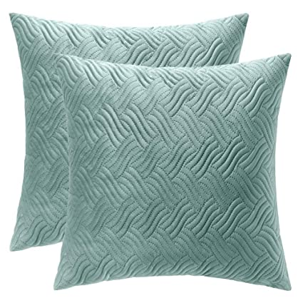 Amazon Artcest Set Of 40 Decorative Velvet Bed Throw Pillow Classy Decorative Quilted Pillows