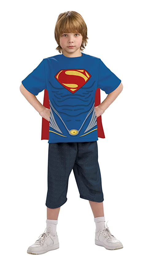 Child Superman Top and Cape Costume