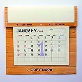LOFTMOONカレンダー2019年版 特許取得構造 月数自在 2018.12~2020.3迄の一覧付 Wカレンダー 機能満載 壁掛け 書き込み式 六曜 旧暦 二十四節気 月相