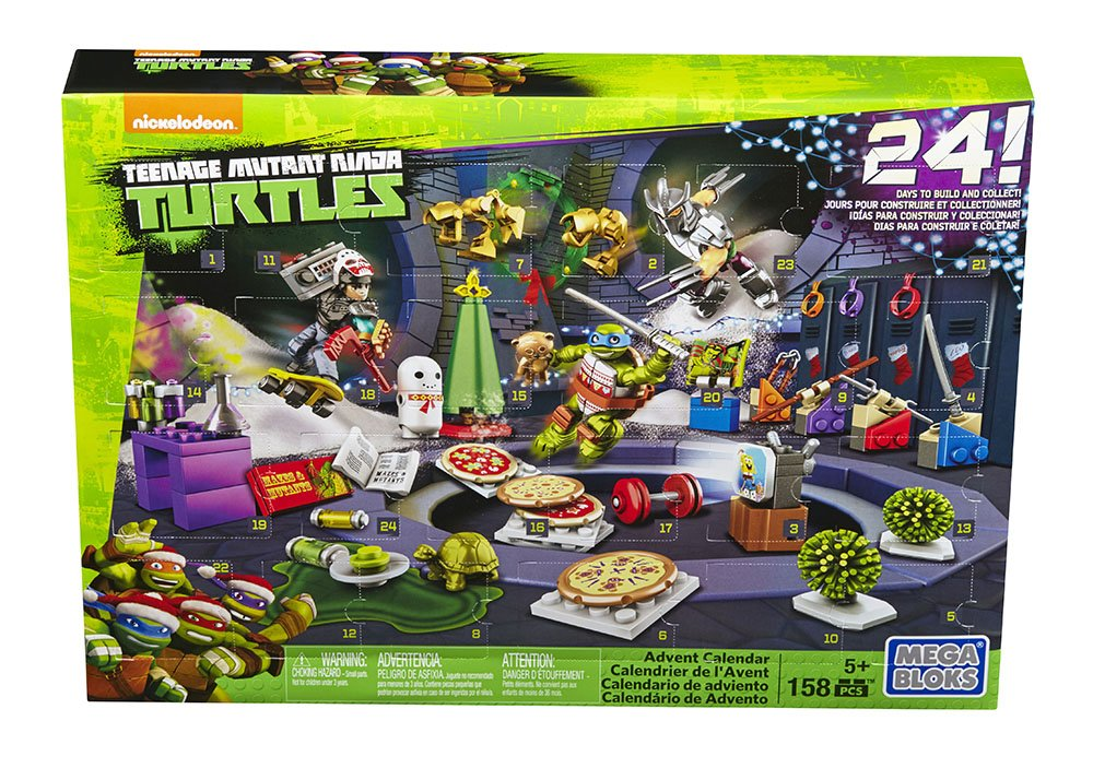 Mega Bloks TMNT Toy - Teenage Mutant Ninja Turtles Xmas Advent Calendar - Includes 158 Pieces Mattel DPF85