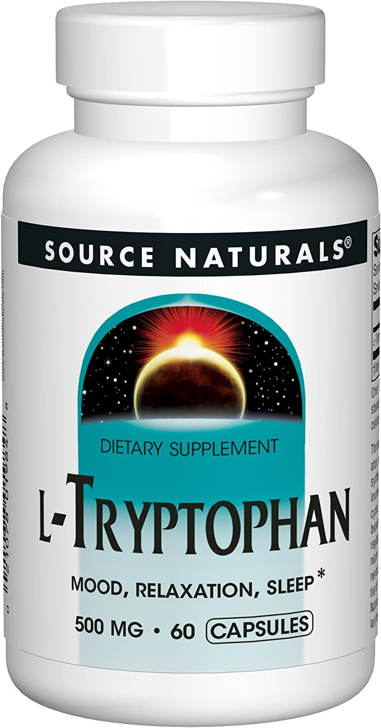 Source Naturals L-Tryptophan 500 mg Essential Amino Acid - 120 Capsules